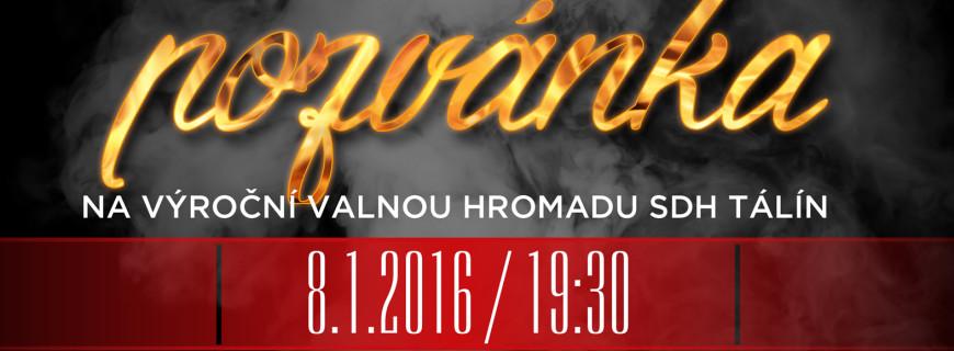 Pozvánka na VVH